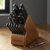 Crate & Barrel Wüsthof ® Gourmet 18-Piece Walnut Knife Block Set
