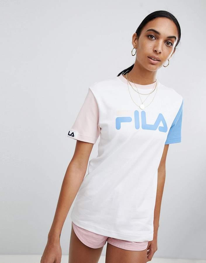 Fila Overszed T-Shirt In Colourblock