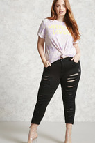 Forever 21 FOREVER 21+ Plus Size Mid-Rise Skinny Jeans