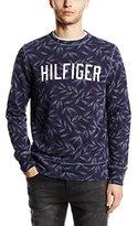 Tommy Hilfiger Men's Crew Neck Long Sleeve Sweatshirt - Blue -