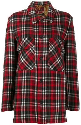 Pierre Louis Mascia Pierre-Louis Mascia checked flannel shirt