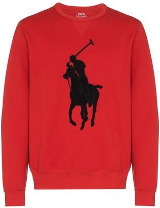 Polo Ralph Lauren Logo applique sweatshirt