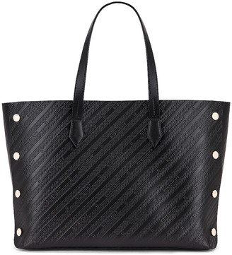 Givenchy Medium Bond Chain Embossed Leather Tote in Black | FWRD