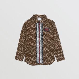 Burberry Childrens Monogram Stripe Print Cotton Shirt