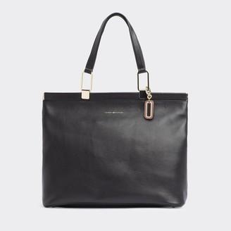 Tommy Hilfiger Pebbled Leather Tote Bag