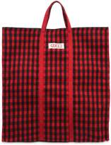 Gucci Florentia Checked Wool Tote Bag