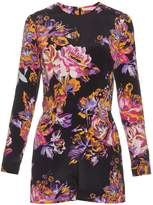 Mary Katrantzou Abstract poppy-print silk-crepe playsuit
