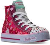 Skechers Little Girls' Twinkle Toes: Shuffles - Velvet Crush Light-Up High Top Casual Sneakers from Finish Line