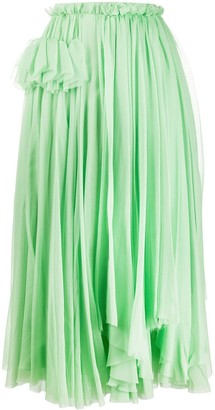 Rochas Asymmetric Midi Skirt