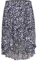 MANGO Tail Hem Printed Skirt