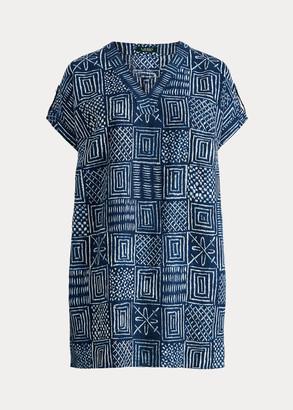 Ralph Lauren Print Linen Shift Dress