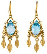 Anthony Nak 18K Topaz Drop Earrings