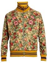 Gucci Floral-print Scuba-jersey Bomber Jacket