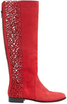 Jimmy Choo Red Suede Boots