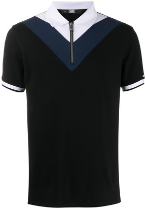 Karl Lagerfeld Paris Colour-Block Polo Shirt