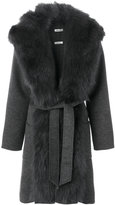 P.A.R.O.S.H. fur collar coat - women - Polyester/Wool - XS