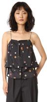 Edun Button Silk Layer Camisole