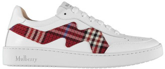 Mulberry Tartan Trainers