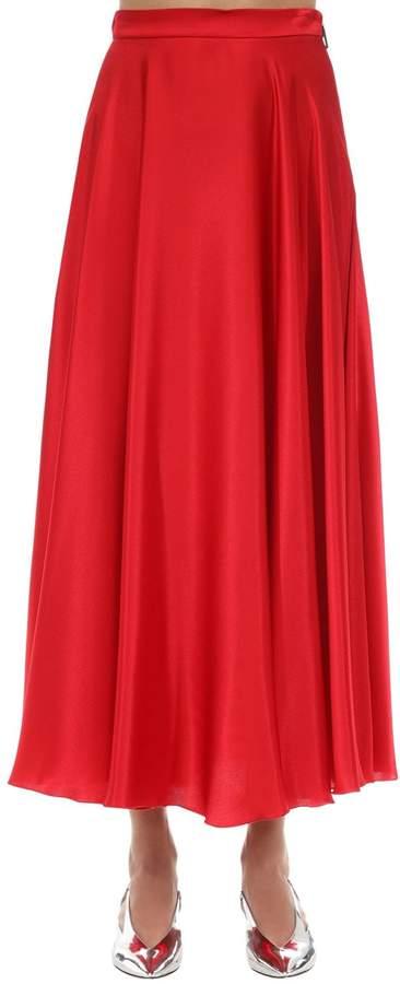 a123d0e005 Red Satin Skirt - ShopStyle