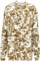 Victoria Beckham Printed Stretch-crepe Shirt