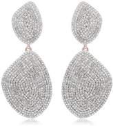 Monica Vinader Nura Double Teardrop Cocktail Earrings
