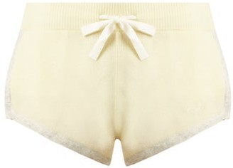 Morgan Lane - Steffy Cashmere Pyjama Shorts - Womens - Yellow