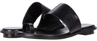 MICHAEL Michael Kors August Flat Sandal (Black) Women's Shoes