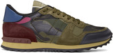 Valentino Green & Pink Camo Rockrunner Sneakers