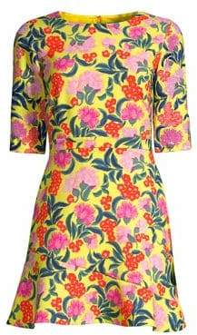 Saloni Celia Floral Mini Dress