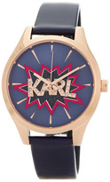 Karl Lagerfeld Women&s Belleville Pop Statement Leather Strap Watch