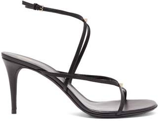 Valentino Rockstud-embellished Leather Sandals - Womens - Black