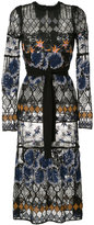 Yigal Azrouel botanic embroidered lace dress - women - Nylon/Polyester - 0
