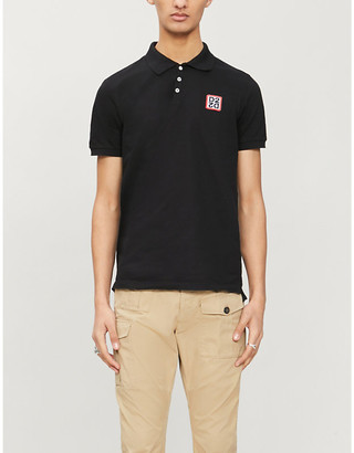DSQUARED2 Logo-appliqué cotton-piqué polo shirt