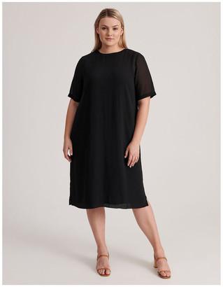 Regatta Short Sleeve Sheer Dress With Lining