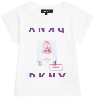 DKNY Logo Graphic Print T-Shirt (6-16 Years)