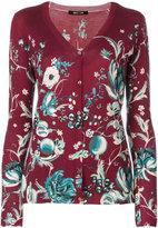 Roberto Cavalli floral print cashmere cardigan - women - Silk/Cashmere/Wool - 42