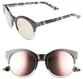 Christian Dior Women's Siderall 1 53Mm Round Sunglasses - Black/ Ruthenium/ Havana