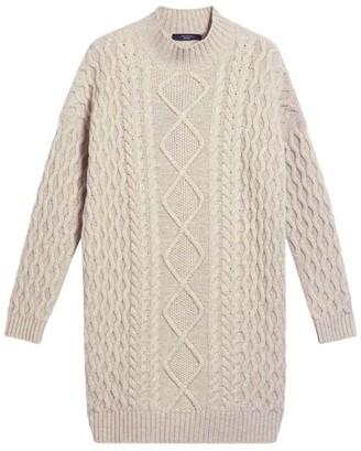 Max Mara Wool Cable-Knit Mini Dress