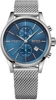 BOSS Men's Chronograph Jet Stainless Steel Mesh Bracelet Watch 41mm 1513441