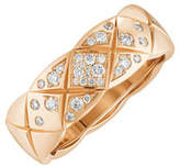 Chanel Coco Crush Ring In 18k Beige Gold And Diamonds, Small Version.