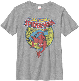 Fifth Sun Boys' Tee Shirts ATH - Athletic Heather 'The Amazing Spider-Man' Tee - Boys