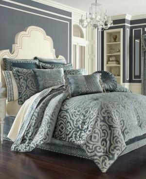 J Queen New York J. Queen 4-Pc. New York Sicily Teal Queen 4-Pc. Comforter Set Bedding