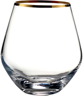 Fitz & Floyd Michel Stemless Curved Glasses (Set of 4)