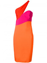 Thierry Mugler asymmetric neck dress
