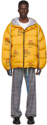 Off-White Yellow Down Industrial Puffer Jacket