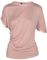 Lanvin Draped silk-trimmed jersey T-shirt