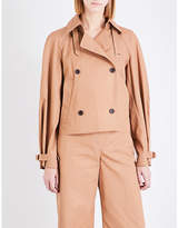 Elizabeth and James Eleta cropped cotton trench coat