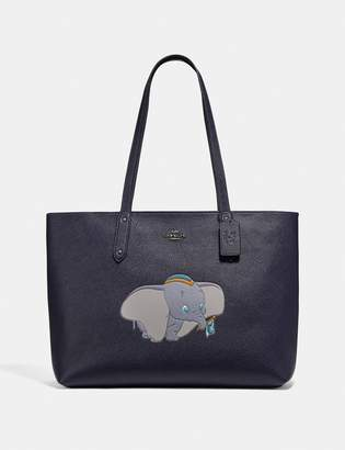 Coach Disney X Central Tote With Zip With Dumbo Motif