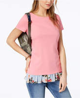 Tommy Hilfiger Printed-Hem T-Shirt, Created for Macy's
