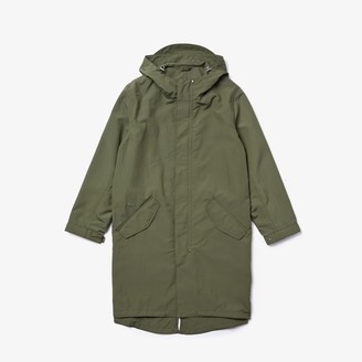 Lacoste Men's Ultra-Light Hooded Long Parka